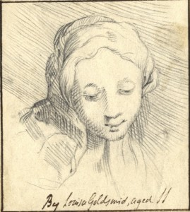 Louisa Goldsmid, Female head, c. 1830, graphite (Ashmolean Museum, Oxford)