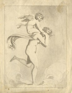 Maria Cosway after Richard Cosway, Nymph and Cupid, 1774-1805, etching and aquatint (Ashmolean Museum, Oxford)