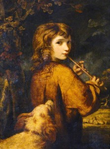 Joshua Reynolds, Piping Shepherd Boy, c. 1788, Oil on canvas,  (National Trust, Antony House, Cornwall  ©National Trust Images/John Hammond)