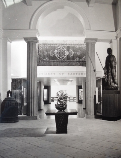 Entrance to the Eastern Art galleries, mid-1960s, now the Museum's Welcome Area.