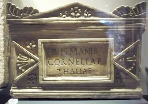 Ash-urn of Cornelia Thalia, c. AD 50-100, Ashmolean Museum AN2007.63, Rome Gallery