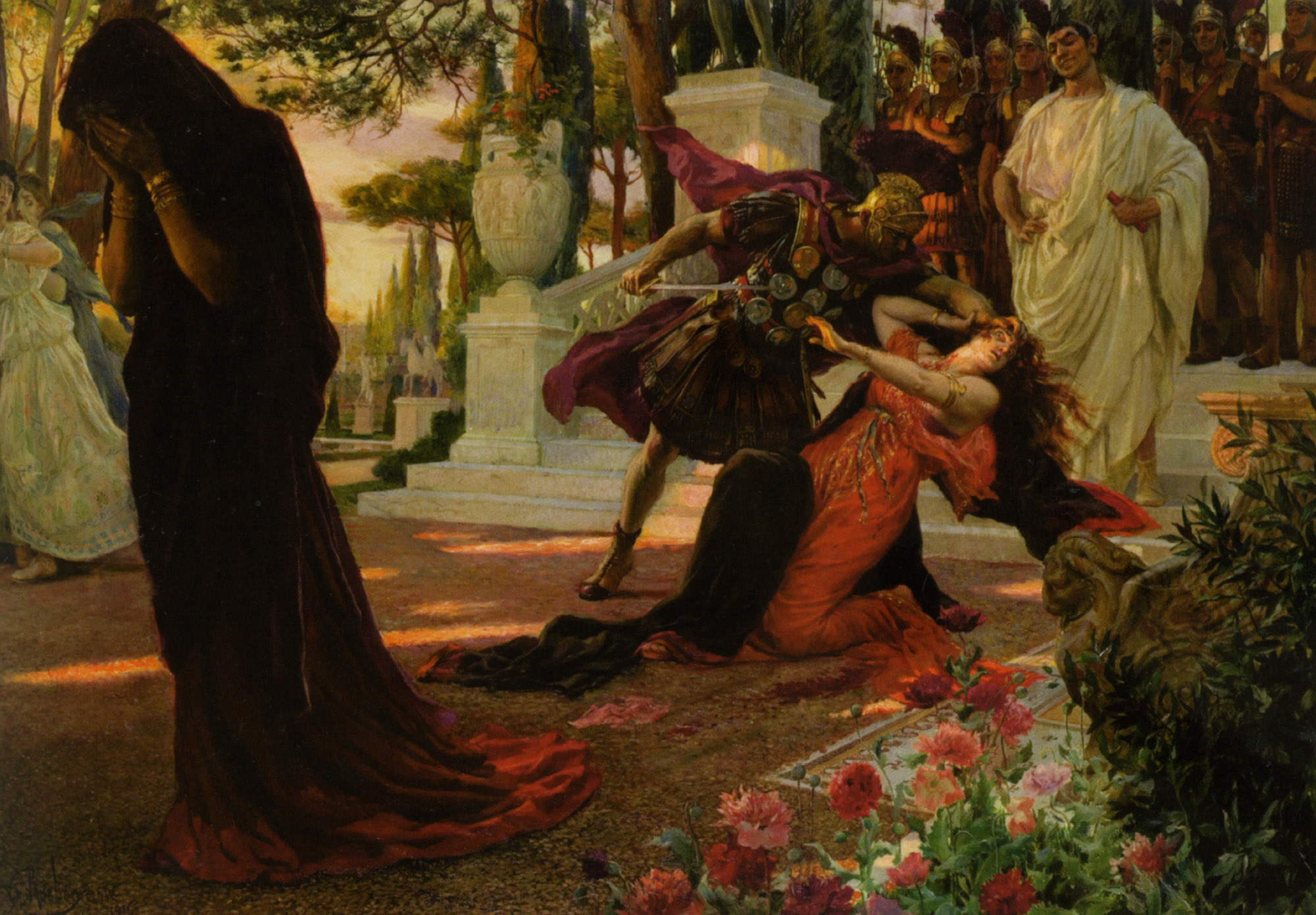 The Death of Messalina, Georges Antoine Rochegrosse (1859-1938)