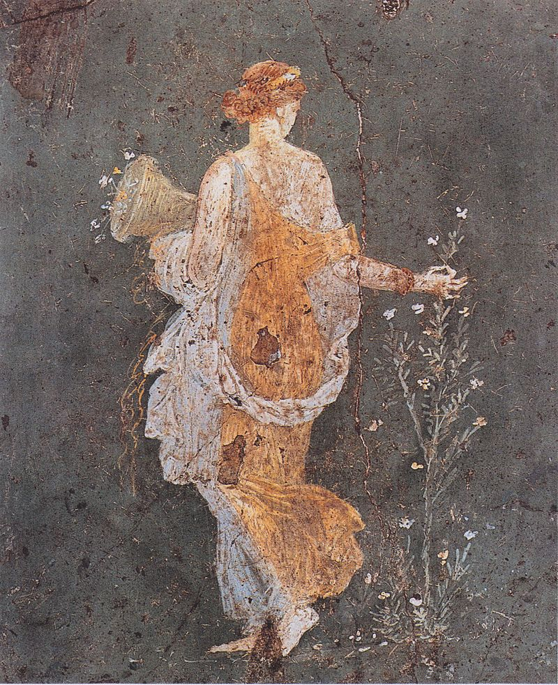 Wall-painting of Flora  from Villa di Arriana at Stabiae, from the first century AD