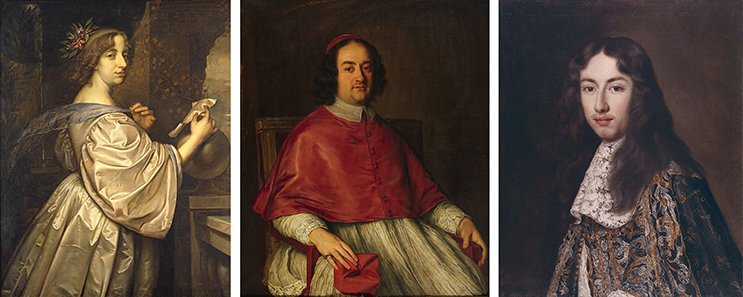 Three owners of the Flora plaque: Queen Christina of Sweden (1626 –1689); Decio Azzolini (1623 –1689); and Livio Odescalchi (1652 – 1713)