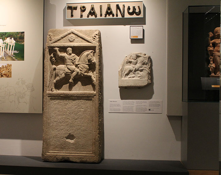Two recently-installed tombstones in the Ashmolean Rome Gallery: ANMichaelis.214 and AN1947.285