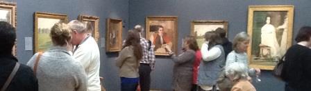 visiting museum