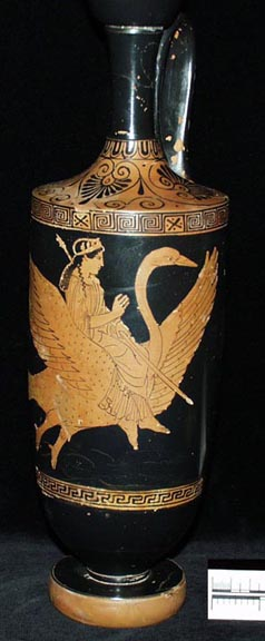 Attic red-figure lekythos with image of Aphrodite riding a swan, from Tomb 57 at Arsinoe (Marion) donated by Cyprus Exploration Fund (AN1891.451