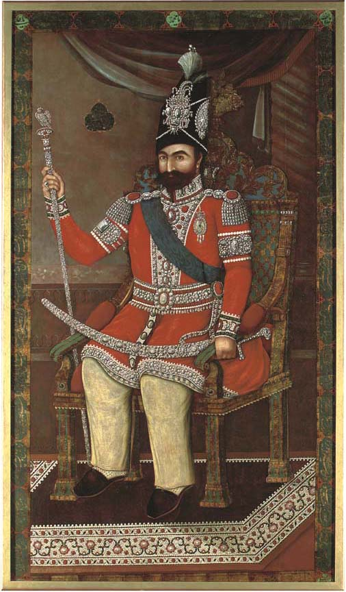 Muhammad Shah with elements of European dress