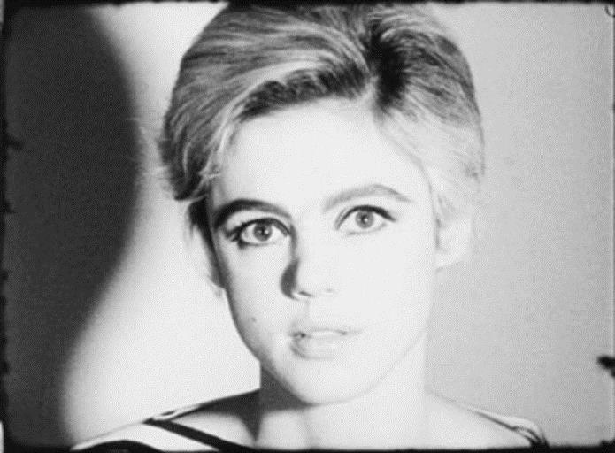 Andy Warhol, Screen Test: Edie Sedgwick (1965), 16mm film, black and white, silent, 4 minutes at 16 frames per second. ©2013 The Andy Warhol Museum, Pittsburgh, PA, a museum of Carnegie Institute. All rights reserved. Still courtesy of The Andy Warhol Museum.