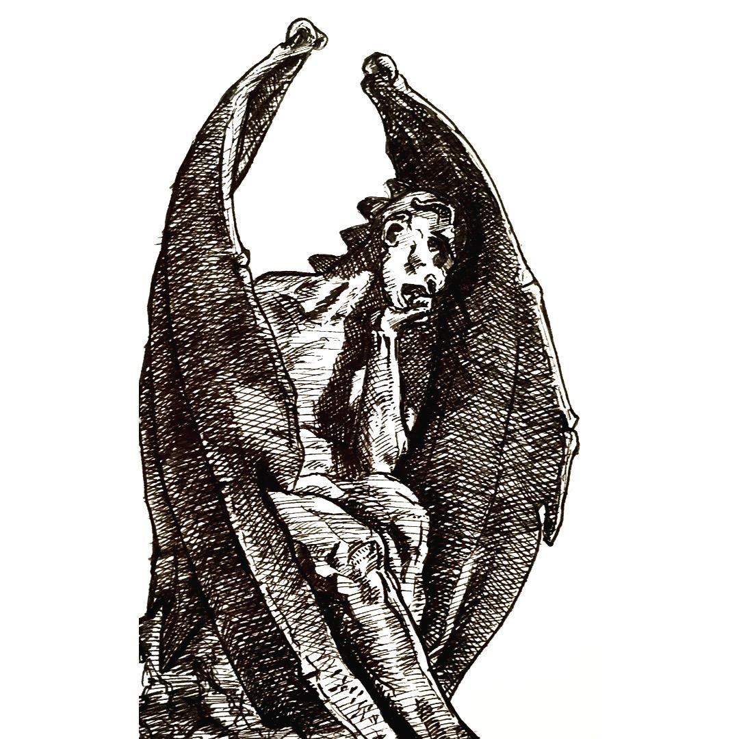 Satan drawing by Freddie Davies