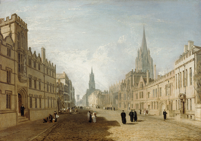 JMW Turner's 1810 painting of The High Street, Oxford