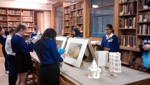 Viewing Turner's watercolours in the Print Room with Dr Caroline Palmer