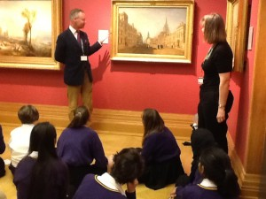 Putting questions to Colin Harrison, Assistant Keeper, Western Art